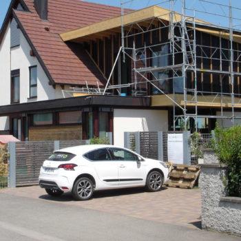 Extension en bois d'une maison individuelle
