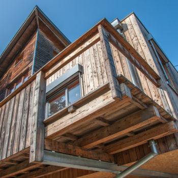 Maison en bois, ossature et charpente bois, bardage bois