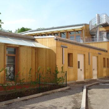 Ecole primaire ossature et bardage en bois