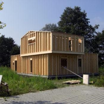 Maison individuelle et contemporaine ossature et charpente bois
