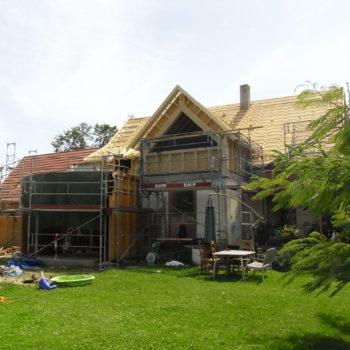Extension et surélévation en bois maison individuelle.