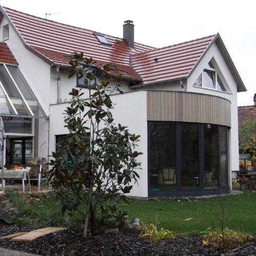 Extension et Surélévation en bois d'une maison contemporaine et individuelle