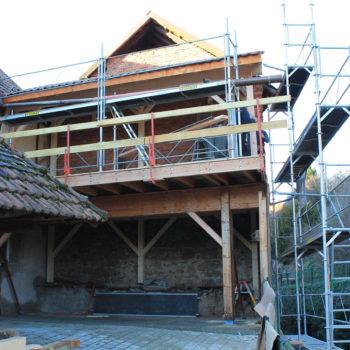 Création d'une terrasse en bois surélevée