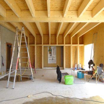 Levage extension d'un bâtiment en bois